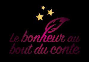 """Logo """"Le bonheur au bout du conte"""""""